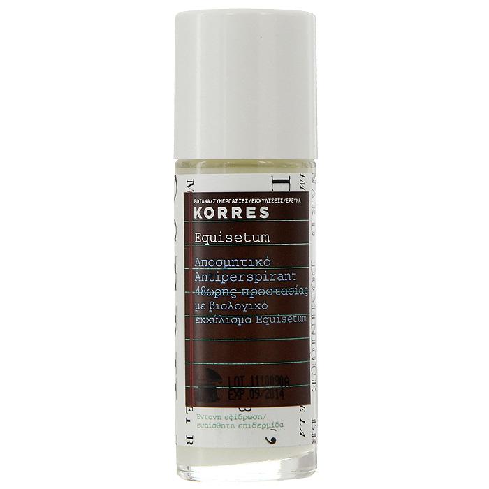 Korres Дезодорант шариковый с экстрактом хвоща, для чувствительной кожи, 30 млSatin Hair 7 BR730MNБез парабенов, без спирта, гипоаллергенный, не оставляет следов. Дезодорант, который обеспечивает комфорт чувствительной кожи на 48 часов. Входящие в состав натуральные активные компоненты и экстракт хвоща обеспечивают эффективную защиту от пота и неприятного запаха. Активный компонент ромашки – бисаболол – предотвращает появление раздражений, смягчая и увлажняя кожу.• Соли алюминия – вяжущие, антибактериальные свойства, защита от пота и раздражений • Хвощ – обладает антибактериальными, дезинфицирующим, ранозаживляющим, вяжущим свойствами • Бисабол – устраняет раздражения, обладает противовоспалительным действием • Компоненты противомикробного действия – 100% растительного происхождения, подавляют активность бактерий, являющихся причиной неприятного запахаНаносить каждый день утром и/или вечером на чистую, сухую кожу.