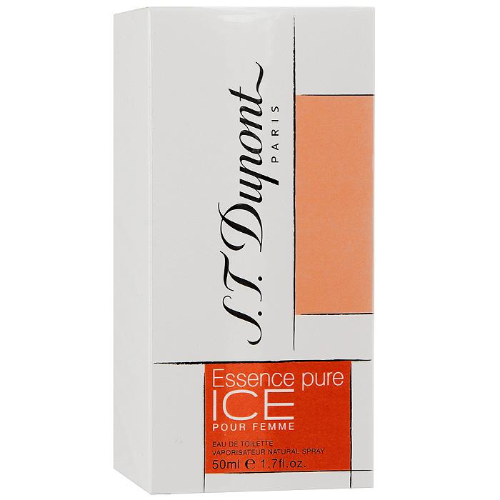 S.T. Dupont Essence Pure Ice Pour Femme. Туалетная вода, 50 мл942901Essence Pure Ice Pour Femme от S.T. Dupont - кристально-чистая гармония соединения ароматов. Каждая нота глубже предыдущей, каждый звук еще насыщеннее, каждое сплетение аромата служит легким продолжением предыдущего. Аромат Essence Pure Ice Pour Femme служит продолжением традиций всемирно известного дома S.T. Dupont.Классификация аромата: свежий, фужерный.Верхние ноты: бергамот, мандарин, арбуз.Ноты сердца:жасмин, лотос, роза.Ноты шлейфа:лист пачули, амбра, рис.Ключевые словаНезабываемый, прозрачный, свежий! Характеристики:Объем: 50 мл. Производитель: Франция. Туалетная вода - один из самых популярных видов парфюмерной продукции. Туалетная вода содержит 4-10%парфюмерного экстракта. Главные достоинства данного типа продукции заключаются в доступной цене, разнообразии форматов (как правило, 30, 50, 75, 100 мл), удобстве использования (чаще всего - спрей). Идеальна для дневного использования. Товар сертифицирован.