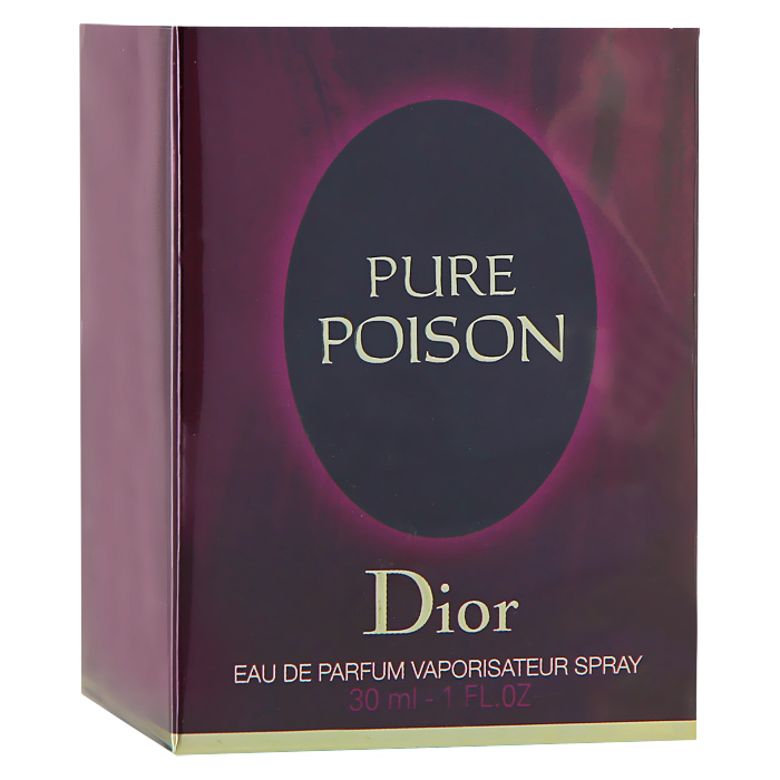 Christian Dior Pure Poison. Парфюмерная вода, женская, 30 мл1301210Аромат Christian Dior Pure Poison открывается чувственными, но необыкновенно выразительными нотами жасмина, сладкого апельсина, бергамота и сицилийского мандарина. Подарите себе этот чувственный, искрящийся и очень притягательный аромат, а он в свою очередь сделает ваш образ по-настоящему незабываемым.Классификация аромата: цитрусовый, цветочный.Верхние ноты: жасмин, апельсин, калабрийский бергамот, сицилийский мандарин.Ноты сердца:гардения, цейлонский кардамон.Ноты шлейфа:амбра, белый мускус, сандал.Ключевые слова:Женственный, интимный, любовный, страстный! Характеристики:Объем: 30 мл. Производитель: Франция. Самый популярный вид парфюмерной продукции на сегодняшний день - парфюмерная вода. Это объясняется оптимальным балансом цены и качества - с одной стороны, достаточно высокая концентрация экстракта (10-20% при 90% спирте), с другой - более доступная, по сравнению с духами, цена. У многих фирм парфюмерная вода - самый высокий по концентрации экстракта вид товара, т.к. далеко не все производители считают нужным (или возможным) выпускать свои ароматы в виде духов. Как правило, парфюмерная вода всегда в спрее-пульверизаторе, что удобно для использования и транспортировки. Так что если духи по какой-либо причине приобрести нельзя, парфюмерная вода, безусловно, - самая лучшая им замена.Товар сертифицирован.