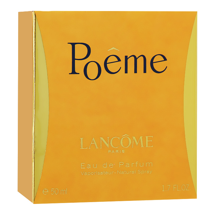 Lancome Парфюмерная вода Poeme, 50 млWS 7064Poeme - это песнь о любви и стихах от Lancome. Лирический аромат создан для прирожденных романтиков. Вопреки традиционному подходу к созданию композиции, парфюмер Жак Кавалье (Jacques Cavallier) создал Poeme, скомбинировав ноты гималайского голубого мака с травой, известной в народе под названием дурман. Этот аккорд в сочетании с букетом богатых цветов придает парфюму необычный, переменчивый характер.Классификация аромата: цветочный.Верхние ноты: черная смородина, мандарин, персик, бергамот.Ноты сердца:жасмин, фрезия, тубероза, цветок апельсина.Ноты шлейфа:амбра, ваниль, мускус, бобы тонка.Ключевые слова:Женственный, роскошный, тонкий, элегантный!Товар сертифицирован.