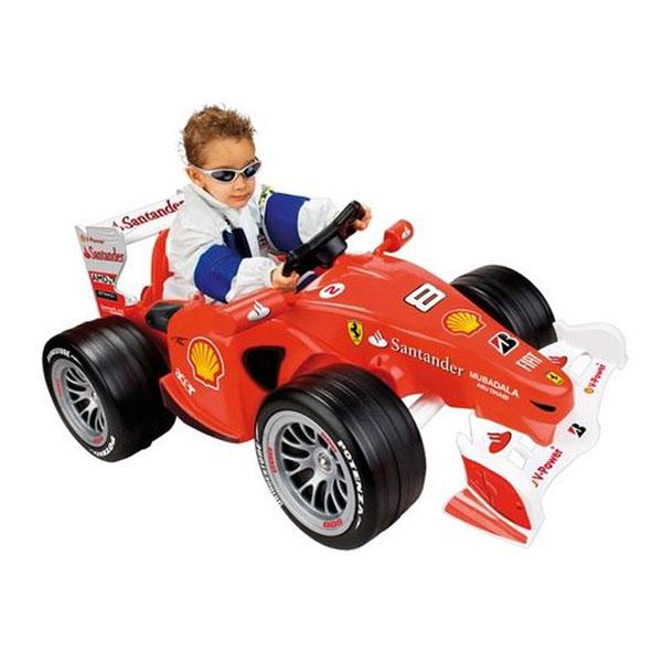 """Детский электромобиль Feber """"Феррари Формула 1 2010"""" станет любимым средством передвижения вашего малыша. Feber """"Феррари Формула 1 2010"""" - это завораживающий звук двигателей болида, который поможет вашему ребенку представить себя победителем гонок. Электромобиль оснащен перезаряжаемой аккумуляторной батареей 6V и предназначен для езды по твердой ровной поверхности. Автомобиль оснащен двумя скоростями движения, передней и задней, для начала движения нужно нажать на педаль. Автомобиль оборудован большими устойчивыми колесами, спойлером и удобным рулем. В комплект с электромобилем входят набор наклеек для большей реалистичности, аккумулятор, зарядное устройство и инструкция по эксплуатации на русском языке. На этом замечательном автомобиле ребенок будет чувствовать себя комфортно и безопасно, а прогулки станут веселее и интереснее. Время зарядки аккумулятора: 10-12 ч. Атомомбиль работает от аккумулятора 6V (аккумулятор и..."""