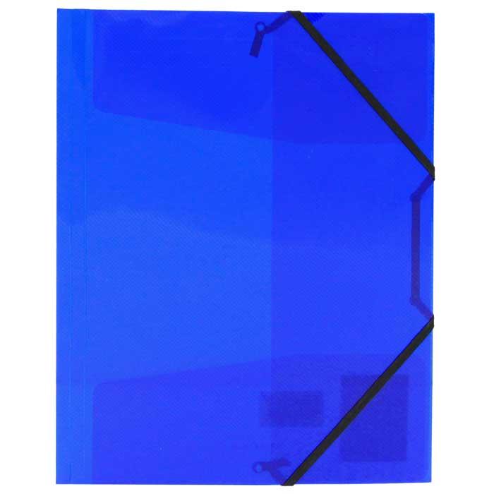 Папка на резинке Erich Krause Diagonal, цвет: синий43625Папка Erich Krause Diagonal с тремя клапанами - удобный и практичный офисный инструмент, предназначенный для хранения и транспортировки рабочих бумаг и документов формата А4. Папка изготовлена из полупрозрачного глянцевого пластика синего цвета срифленой поверхностью и закрывается при помощи угловых резинок. Согнув клапаны по линии биговки, можно легко увеличить объем папки, что позволит вместить большее количество документов. С такой папкой ваши документы всегда будут в полном порядке! Характеристики:Материал: пластик, текстиль. Цвет: синий. Размер папки: 32 см х 22,5 см x 3,5 см. Изготовитель: Китай.