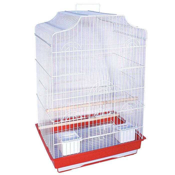Клетка для птиц, 47,5 см х 36 см х 68 смDCC1048SКлетка для птиц, выполненная из пластика и металла с эмалированным покрытием, предназначена для мелких птиц. Вы можете поселить в нее одну или две птицы. Изделие состоит из большого поддона и решетки. Клетка снабжена металлической дверцей и четырьмя окошками, которые открываются и закрываются движением вверх-вниз. В основании клетки находится малый выдвижной поддон с металлической решеткой сверху. Поддон удобно и легко чистить, так как он выдвигается из клетки, не беспокоя питомцев. Клетка также оснащена четырьмя кормушками, двумя жердочками и ручкой для переноски. Комплектация: - клетка, - малый поддон с решеткой, - кормушка: 4 шт., - жердочка: 2 шт.Размер кормушки: 12 см х 95 см х 7 см. Длина жердочки: 47,5 см. Размер выдвижного поддона: 40,5 см х 31 см х 2,5 см. Размер большого поддона: 47,5 см х 36,5 см х 9 см.Размер клетки: 47,5 см х 36 см х 68 см.