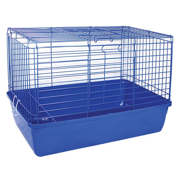 Клетка для кроликов Triol, цвет: синий, 59 см х 40 см х 36 см0120710Клетка для кроликов Triol, выполненная из металла с эмалированным покрытием и пластика, предназначена для содержания вашего любимца. Клетка имеет прямоугольную форму, очень просторна, оснащена съемным поддоном. Она очень легко собирается и разбирается.Такая клетка станет для вашего питомца уютным домиком и надежным убежищем. Размер клетки: 59 см х 40 см х 36 см.