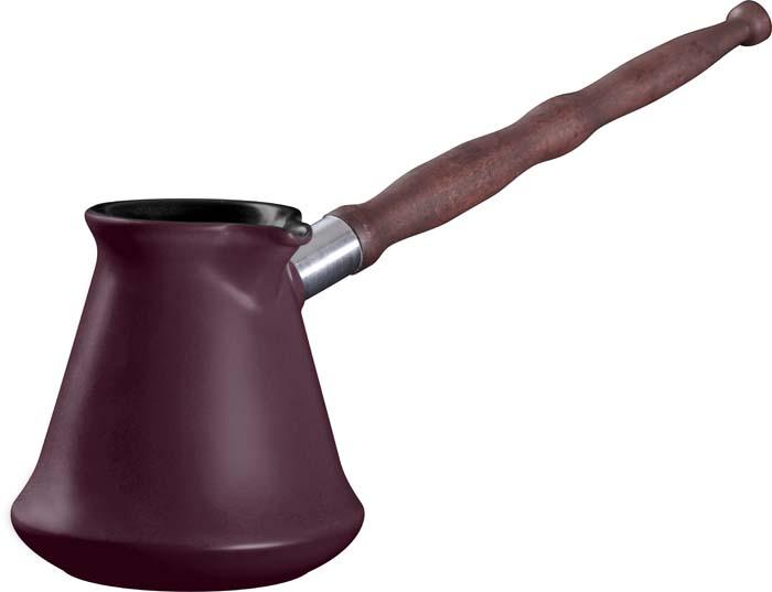 Турка Ceraflame Ibriks, цвет: сливовый, 350 мл54 009312Турка Ceraflame Ibriks, выполненная из керамики, предназначена для приготовления кофе. Турка оснащена удобной съемной деревянной ручкой и носиком. Турка покрыта уникальной гладкой эмалью, устойчивой к трещинам и царапинам. Непористая поверхность исключает образование бактерий, великолепно моется, и будет оставаться новой и блестящей даже после использования абразивных губок и чистящих средств. Керамика, из которой выполнена турка, устойчива к резким перепадам температур, способна выдерживать очень высокие температуры, сохраняет аромат и полезные свойства. Турку можно использовать на открытом огне, на газовой или электрической печи, в микроволновой или конвекционной печи, в морозильной камере или посудомоечной машине.Турка выполнена из экологически чистых материалов, поэтому в процессе эксплуатации не выделяет вредных веществ. Керамика не только быстро нагревается, но и сохраняет тепло дольше, чем посуда из других материалов. Кофе пришел к нам из Восточной Африки - той ее части, где сейчас находится Эфиопия, и в начале 16 века кофе был привезен в Южную Индию, Яву и Суматру, в Европу и Бразилию, на Ямайку и Кубу. Уже тогда кофе варили именно так - в сосуде с узким горлышком, известным нам как турка, джезва или ибрик. Кофе, сваренный в керамической турке - традиционно густой, с насыщенным вкусом и ароматом. При приготовлении кофе в турке гуща не процеживается, а остается в напитке, и кофе сохраняет в первозданном виде все вещества, которые содержались в кофейных зернах.Длина ручки: 22 см.Наибольший диаметр турки: 10 см.Высота стенок: 10,5 см.