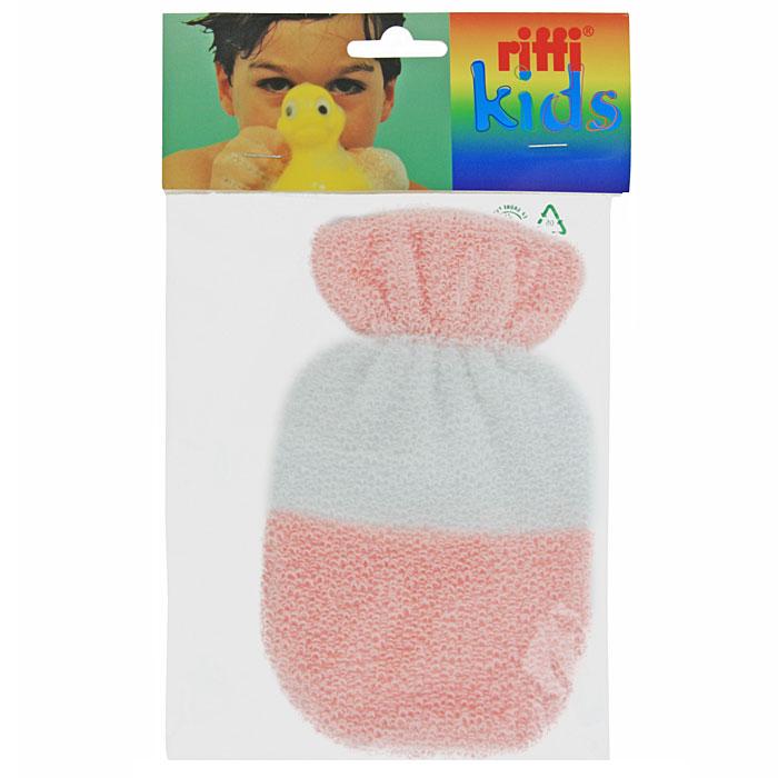 Мочалка-рукавица детская Riffi. 402, цвет в ассормитенте28032022Хлопковая мочалка-рукавица Riffi отлично очищает и деликатно ухаживает за нежной кожей ребенка. Размер рукавицы идеально подходит для маленьких детских ручек. Эластичный манжет надежно держит рукавицу на ручке, не прижимая ее. Особая мягкость мочалки позволяет использовать ее даже для самой нежной и особо чувствительной кожи. Характеристики:Материал: 85% хлопок, 15% полиэстер. Размер: 17,5 см x 10,5 см. Производитель: Германия. Артикул:402.