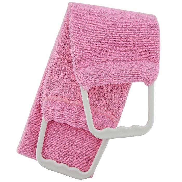 Riffi Мочалка-пояс, двухсторонняя, цвет: розовый. 7275010777139655Двухсторонняя мочалка-пояс Riffi, обладающая активным пилинговым действием, тонизирует, массирует и эффективно очищает вашу кожу. Мягкой стороной хорошо намыливать тело и наносить на него косметические средства после душа. Жесткую сторону пояса используют для тонизирующего массажа кожи. Для удобства применения мочалка снабжена двумя пластиковыми ручками.Благодаря отшелушивающему эффекту мочалки-пояса, кожа освобождается от отмерших клеток, становится гладкой, упругой и свежей. Интенсивный и пощипывающе свежий массаж тела с применением Riffi стимулирует кровообращение, активирует кровоснабжение, способствует обмену веществ, что в свою очередь позволяет себя чувствовать бодрым и отдохнувшим после принятия душа или ванны.Riffi регенерирует кожу, делает ее приятно нежной, мягкой и лучше готовой к принятию косметических средств. Приносит приятное расслабление всему организму. Борется со спазмами и болями в мышцах, предупреждает образование целлюлита и обеспечивает омолаживающий эффект. Моет легко и энергично. Быстро сохнет. Состоит из 65 % полиэстера и 35% полиэтилена.Гипоаллергенная.Товар сертифицирован.