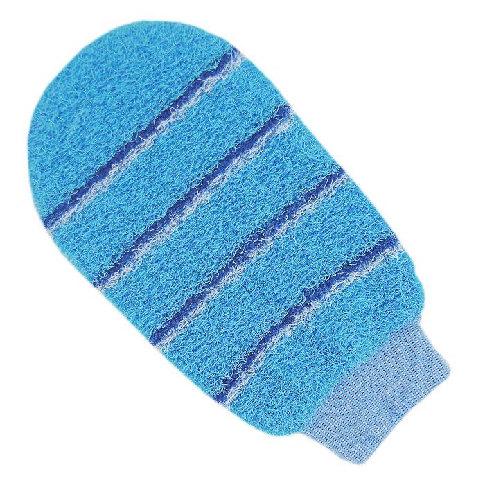 Мочалка-рукавица массажная Riffi, цвет: голубойSC-FM20104Мочалка-рукавица Riffi идеально подходит для интенсивного массажа и пилинга. Цветные полоски из более жесткого материала хорошо освобождают кожу от ороговелостей и отмерших клеток, делая ее гладкой и упругой. Интенсивный слегка пощипывающий массаж тела с применением мочалки Riffi стимулирует кровообращение, активирует кровоснабжение и улучшает общее самочувствие, борется с болями и спазмами в мышцах. В результате у вас мягкая и чистая кожа, мочалка помогает бороться с целлюлитом, предотвращает появление огрубевшей кожи и вросших волос. Riffi приносит приятное расслабление всему организму. Варежка необычайно гигиенична и долговечна.
