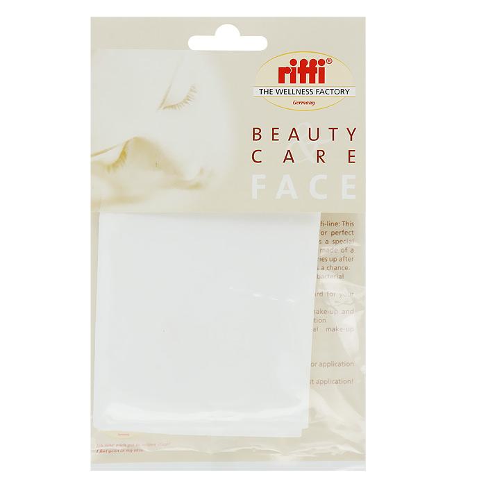Салфетка косметическая Riffi Профи, губчатая, цвет белый riffi повязка для волос цвет коралловый