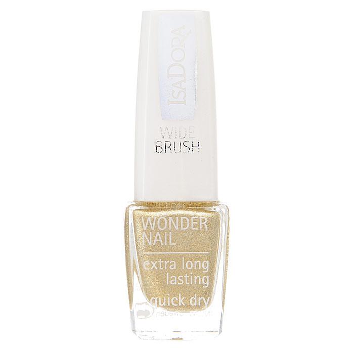 Лак для ногтей Isa Dora Wonder Nail, тон №652, цвет: золотой блеск, 6 млB1868700Лак для ногтей Isa Dora Wonder Nail быстро сохнет и держится в течение 4-5 дней.Широкая кисточка позволяет быстро и легко нанести лак, всего за один штрих! Так же она гарантирует окрашивание без полосок. Этот лак выравнивает ногтевую поверхность и остается блестящим в течение долгого времени. Бриллиантовый блеск и красота ваших ногтей! Гипоаллергенная формула. Характеристики:Объем: 6 мл. Тон: №652. Цвет: золотой блеск. Производитель: Швеция. Артикул:2206. Товар сертифицирован.