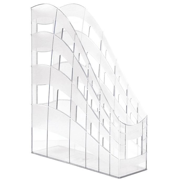 Подставка для бумаг Erich Krause S-Wing, вертикальная, цвет: прозрачныйFS-54100Односекционная вертикальная подставка для бумаг Erich Krause S-Wing предназначена для хранения документов, рабочих бумаг, журналов и каталогов различных форматов. Подставка выполнена из высококачественного прозрачного пластика. Низкий передний порог облегчает изъятие документов из накопителя.Вертикальная подставка S-Wing - это незаменимый офисный атрибут, благодаря которому ваши документы будут всегда содержаться в порядке.Характеристики:Размер подставки: 25 см x 7,5 см x 31 см. Цвет подставки: прозрачный.