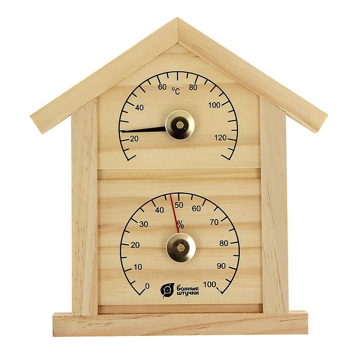 Термометр с гигрометром Домик для бани и сауныTHN132NТермометр с гигрометром Домик выполнен из натурального дерева в виде домика. Максимальная измеряемая температура - 120°C, влажность - 100%. Русский человек любит ходить в баню, а особенно - париться. Однако следует иметь в виду, что превышение температур в парной приводит к определенным побочным эффектам - от головокружения и тошноты, до обострения хронических заболеваний. Избежать такого рода неприятностей вам поможет термометр с гигрометром Домик. Характеристики:Материал: дерево, стекло, металл. Размер домика: 23,5 см х 22,5 см х 1,9 см. Размер упаковки: 29 см х 22,5 см х 3 см. Производитель: Китай. Артикул: 18023.