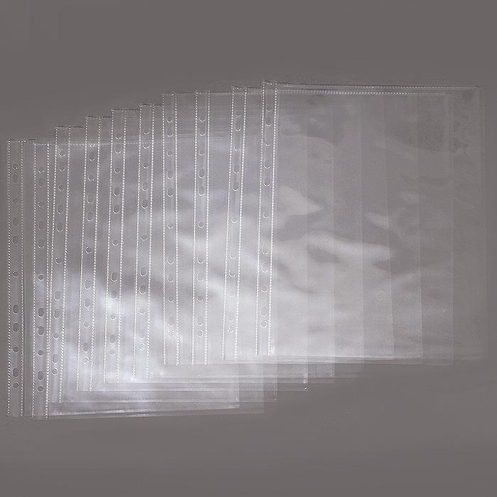 """Файл-вкладыш """"Erich Krause"""" имеет увеличенную толщину пленки, что делает перфофайл более устойчивым к внешним воздействиям и механическим повреждениям, сохраняя при этом высокую прозрачность. Позволяет просматривать текст документа, не вынимая его изнутри."""
