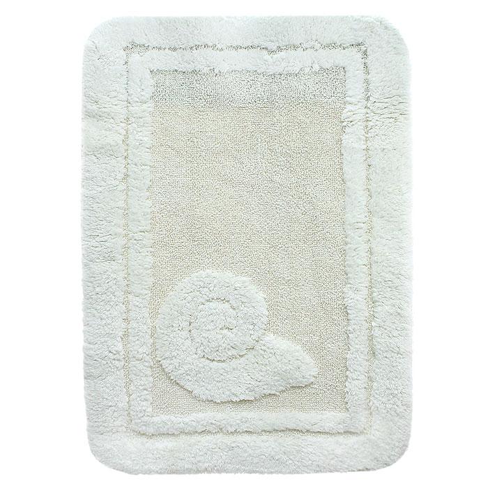 Коврик для ванной комнаты Escargot, цвет: натуральный, 60 x 90 см391602Коврик Escargot выполнен из натурального хлопка. Материал из хлопка практически идеально впитывает влагу и быстро высыхает. Износостойкое волокно длительное время сохраняет первоначальный цвет и внешний вид. Прорезиненная основа коврика позволяет использовать его во влажных помещениях, предотвращает скольжение коврика по гладкой поверхности, а также обеспечивает надежную фиксацию ворса. Фабричная обработка кромки коврика увеличивает срок службы изделия и улучшает его внешний вид. Характеристики: Материал:100% хлопок. Цвет:натуральный. Размер:60 см х 90 см. Производитель: Швейцария. Изготовитель: Бельгия. Артикул: 1041085.