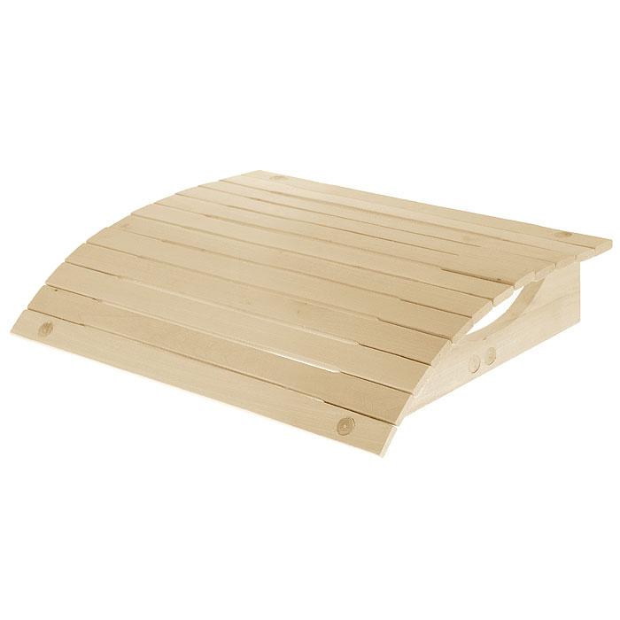Подголовник для бани Банные штучки, мягкий, 34 х 34 х 8,5 смC0042416Мягкий подголовник Банные штучки, изготовленный из липы, сделает ваш отдых в бане еще более комфортным. Эластичная поверхность подголовника позволяет дощечкам прогибаться под нагрузкой. Ваша шея будет находиться в спокойном, расслабленном состоянии. Удобно устроившись на полке, вы получите настоящее удовольствие от банной процедуры! Интересная штука - баня. Место, где одинаково хорошо и в компании, и в одиночестве. Перекресток, казалось бы, разных направлений - общение и здоровье. Приятное и полезное. И всегда в позитиве. Характеристики:Материал: липа. Размер подголовника: 34 см х 34 см х 8,5 см. Производитель: Россия. Артикул: 32144.