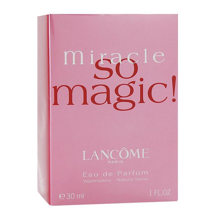 Lancome Miracle So Magic. Парфюмерная вода, 30 мл28032022Аромат Lancome Miracle So Magic - восхитительный, розовый, искристый свежий цветочный... Это больше чем аромат, это чудесная эссенция оптимизма и хорошего настроения. Ощущение праздника пронизывает воздух. Композиция адресована молодым, остро чувствующим жизнь женщинам. Аромат оптимизма и счастья.Классификация аромата: цветочный. Верхние ноты: нарцисс, роза.Ноты сердца:роза, нарцисс, клевер.Ноты шлейфа:мускус, ваниль.Ключевые слова:Вдохновенный, женственный, интимный, соблазнительный! Характеристики:Объем: 30 мл. Производитель: Франция. Самый популярный вид парфюмерной продукции на сегодняшний день - парфюмерная вода. Это объясняется оптимальным балансом цены и качества - с одной стороны, достаточно высокая концентрация экстракта (10-20% при 90% спирте), с другой - более доступная, по сравнению с духами, цена. У многих фирм парфюмерная вода - самый высокий по концентрации экстракта вид товара, т.к. далеко не все производители считают нужным (или возможным) выпускать свои ароматы в виде духов. Как правило, парфюмерная вода всегда в спрее-пульверизаторе, что удобно для использования и транспортировки. Так что если духи по какой-либо причине приобрести нельзя, парфюмерная вода, безусловно, - самая лучшая им замена.Товар сертифицирован.