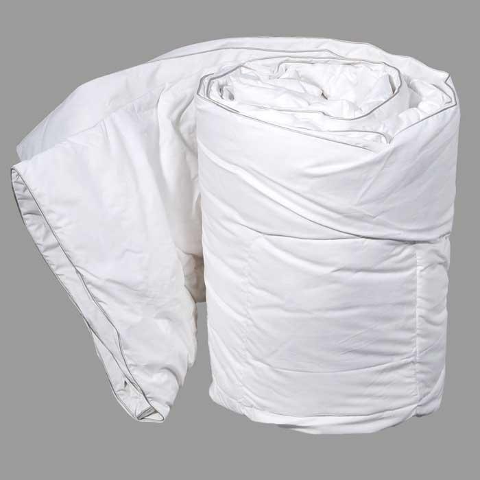 Одеяло Dargez Вилларс сверхлегкое, 172 х 205 см531-401Сверхлегкое одеяло Dargez Вилларс представляет собой чехол из белоснежного перкаля с наполнителем из белого пуха первой категории. Наполнитель из пуха придает изделию дополнительную упругость и легкость. Особенности одеяла Dargez Вилларс: - натуральное и экологически чистое;- обладает легкостью и уникальными теплозащитными свойствами;- создает оптимальный температурный режим; - обладает высокой гигроскопичностью: хорошо впитывает и испаряет влагу;- имеет высокую воздухопроницаемость: позволяет телу дышать; - обладает мягкостью и объемом.Одеяло вложено в текстильную сумку-чехол зеленого цвета на застежке-молнии, а специальная ручка делает чехол удобным для переноски. Характеристики:Материал чехла: перкаль отбеленный пуходержащий (100% хлопок). Наполнитель: белый пух первой категории. Размер одеяла: 172 см х 205 см. Масса наполнителя: 0,65 кг. Размер упаковки: 60 см х 40 см х 12 см. Артикул: 20340В. Торговый Дом Даргез был образован в 1991 году на базе нескольких компаний, занимавшихся производством и продажей постельных принадлежностей и поставками за рубеж пухоперового сырья. Благодаря опыту, накопленным знаниям, стремлению к инновациям и развитию за 19 лет компания смогла стать крупнейшим производителем домашнего текстиля на территории Российской Федерации. В основу деятельности Торгового Дома Даргез положено стремление предоставить покупателю широкий выбор высококачественных постельных принадлежностей и текстиля для дома, которые способны создавать наилучшие условия для комфортного и, что немаловажно, здорового сна и отдыха.
