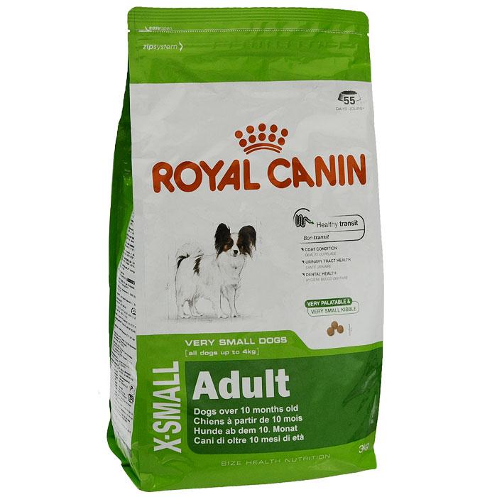 Корм сухой Royal Canin X-small Adult для собак очень мелких пород, 3 кг12260324Сухой корм Royal Canin X-small Adult является полнорационным кормом для взрослых собак (в возрасте 10 месяцев и старше) очень мелких размеров (весом до 4 кг). Маленькие крокеты разработаны специально для крошечных челюстей собак миниатюрных размеров, а их эксклюзивная формула привлекательна даже для собак, особенно привередливых в питании.Особенности корма Royal Canin X-small Adult: - оптимальная работа пищеварительной системы: сбалансированный комплекс высококачественных белков и различных видов клетчатки (включая семя подорожника) облегчает кишечный транзит и нормализует консистенцию стула; - питает шерсть собаки; - эффективная защита мочевыводящей системы: способствует сохранению здоровья мочеполовой системы у собак миниатюрных размеров и поддерживает необходимый уровень кислотности мочи; - здоровье зубов: помогает замедлить образование зубного налета благодаря полифосфату натрия, который связывает кальций, содержащийся в слюне.Royal Canin - лидер на рынке производства рационов для собак и кошек, благодаря каждодневной исследовательской работе в области питания для домашних животных. Характеристики:Состав:рис, дегидратированное мясо птицы, кукуруза, животные жиры, кукурузная мука, кукурузная клейковина, гидролизат белков животного происхождения, изолят растительных белков, экстракт цикория, минеральные вещества, соевое масло, оболочка и семена подорожника (1%), дрожжи, рыбий жир, фруктоолигосахариды.Пищевая ценность:белки - 24%, жиры - 18%, минеральные вещества - 5,7%, клетчатка пищевая - 1,7%. Пищевые добавки на 1 кг:витамин А - 22200 МЕ, витамин D3 1000 МЕ, железо - 51 мг, йод - 5,2 мг, марганец - 62 мг, цинк - 200 мг, селен - 0,09 мг. Вес:3 кг. УВАЖАЕМЫЕ КЛИЕНТЫ! Обращаем ваше внимание на возможные изменения в дизайне упаковки.