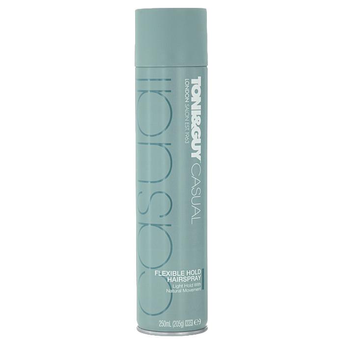 Спрей для волос TONI&GUY Casual. Легкая фиксация, 250 млFS-00897Спрей для волос TONI&GUY Casual. Легкая фиксация обеспечивает подвижную фиксацию, придает ощущение легкости без склеивания на протяжении всего дня.Способ применения: распылите лак равномерно на высушенные феном и уложенные в прическу волосы или до укладки феном, чтобы надолго зафиксировать результат. Для придания дополнительного объема укладке используйтемусс для волос TONI&GUY Prep. Эффектный объем от корней . Сделайте свой стиль ярче и придайте завершенность своему образу, воспользовавшись средствами из стайлинговой коллекции TONI&GUY Casual. Характеристики:Объем: 250 мл. Производитель: Италия. Товар сертифицирован.