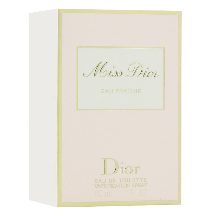 Christian Dior Miss Dior Eau Fraiche. Туалетная вода, 50 млSMR 4230Christian Dior Miss Dior Eau Fraiche - женственный и чувственный, свежий и зеленый, шипрово-цветочный аромат. Глубокий и чувственный и в то же время кокетливый характер с бодрящим звуком солнечной весны. Этот аромат дополнил многообразие исключительных образов парижанки Miss Dior. В нем смешались легкость и элегантность.Классификация аромата: шипровый, цветочный.Верхние ноты: цитрусовые, гальбаниум.Ноты сердца: жасмин.Ноты шлейфа: бергамот, гардения, пачули.Ключевые словаСвежий, чувственный, легкий, элегантный! Характеристики:Объем: 50 мл. Производитель: Франция. Туалетная вода - один из самых популярных видов парфюмерной продукции. Туалетная вода содержит 4-10%парфюмерного экстракта. Главные достоинства данного типа продукции заключаются в доступной цене, разнообразии форматов (как правило, 30, 50, 75, 100 мл), удобстве использования (чаще всего - спрей). Идеальна для дневного использования. Товар сертифицирован.