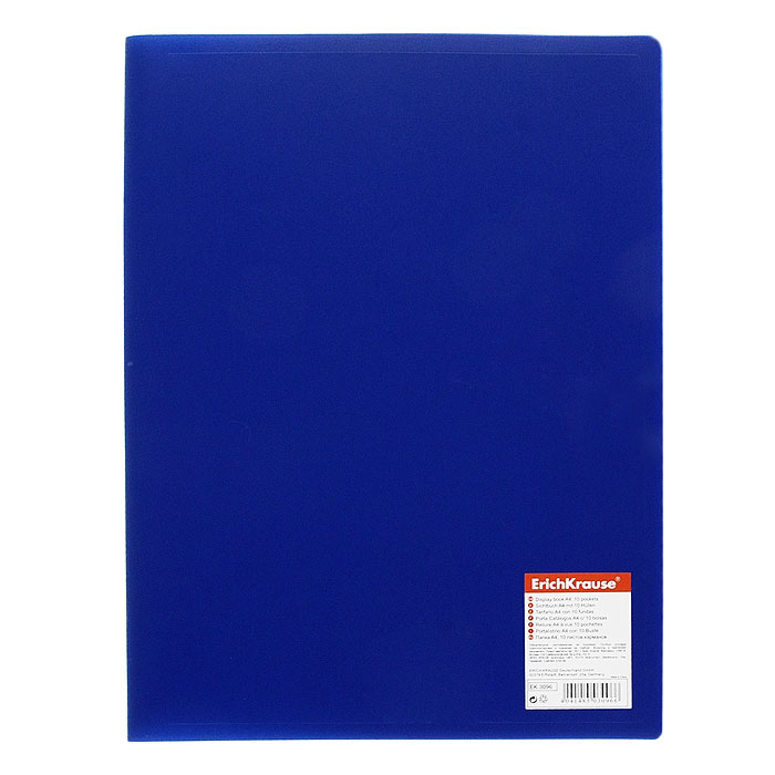 Папка с файлами Erich Krause Standard, 10 листов, цвет: синий31012Экономичная папка Erich Krause Standard предназначена для хранения часто используемых рабочих бумаг: прайс-листов, расчетных таблиц.Папка выполнена из полипропилена с прозрачными листами-карманами, скрепленными термосваркой.Характеристики:Вместимость: 10 вкладышей. Размер: 31 см х 23 см х 0,6 см. Изготовитель: Китай.
