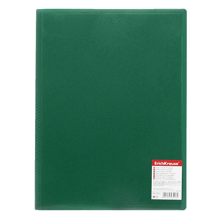 Папка с файлами Erich Krause Standard, 20 листов, цвет: зеленый40260Экономичная папка Erich Krause Standard предназначена для хранения часто используемых рабочих бумаг: прайс-листов, расчетных таблиц.Папка выполнена из полипропилена с прозрачными листами-карманами, скрепленными термосваркой. Характеристики:Вместимость: 20 вкладышей. Размер: 31 см х 23 см х 0,6 см. Изготовитель: Китай.