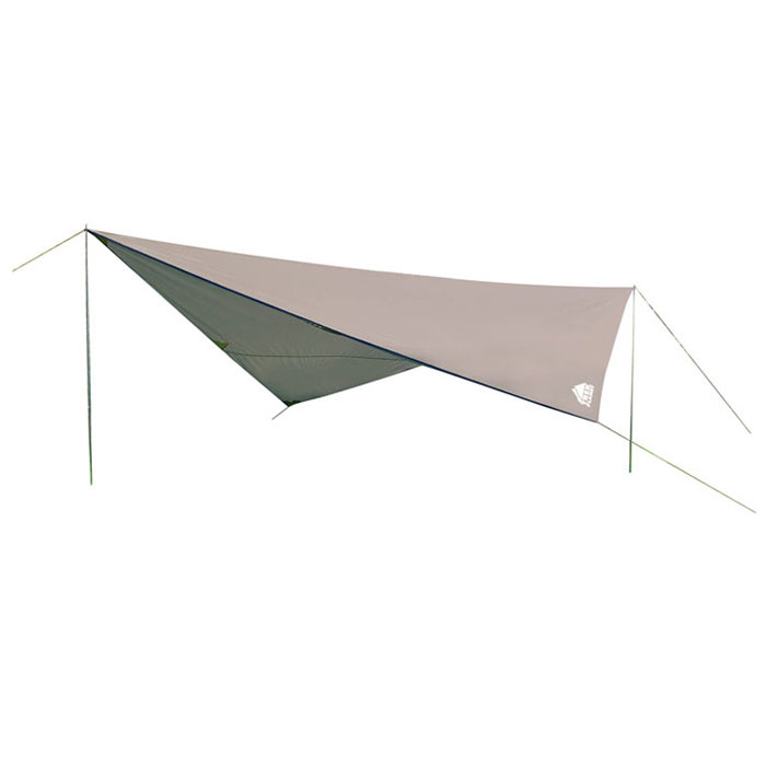 Тент Trek Planet Tent 400 Set, цвет: серый70280Универсальный тент Trek Planet Tent 400 Set предназначен для защиты от дождя и солнца и организации летней столовой, лагеря. Тканевая часть - из полиэстера с водоотталкивающей пропиткой, имеются две стальные стойки, растяжки и колышки. В собранном виде тент имеет небольшие размеры и не занимает много места при транспортировке. Особенности:Небольшой вес,Компактная упаковка,Стойки в комплекте, высота 2 метра, складываются вчетверо,Швы проклеены. Тент упакован в легкий и прочный чехол на застежке-молнии.Размер с учетом дуг (в сложенном виде, в чехле): 59 см х 10 см х 10 см.
