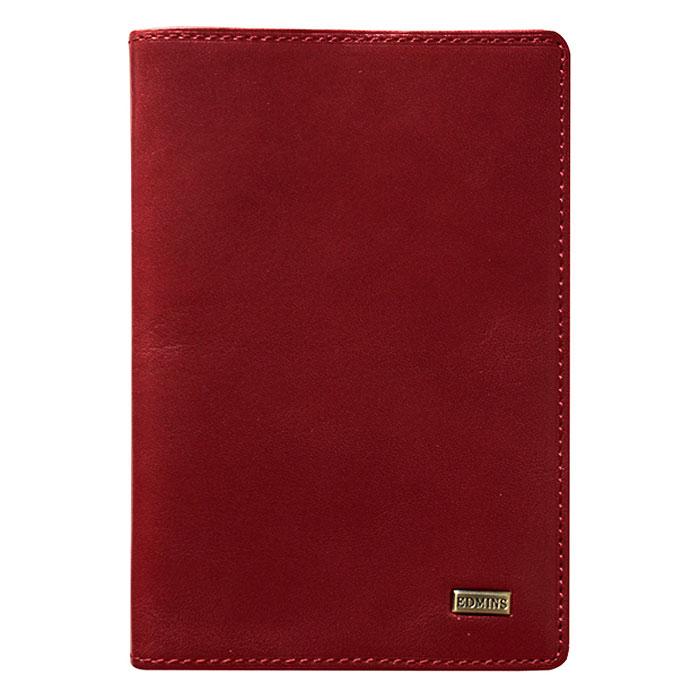 Обложка для паспорта Edmins, цвет: красный. 302 ML EDW16-12123_811Обложка для паспорта выполнена из натуральной кожи красного цвета. Внутри состоит из отделения для паспорта и одного отделения для пластиковых карт или визиток.Такая обложка не только поможет сохранить внешний вид ваших документов и защитить их от повреждений, но и станет стильным аксессуаром, идеально подходящим вашему образу. Обложка для паспорта станет замечательным подарком человеку, ценящему качественные и практичные вещи.Обложка упакована в фирменную коробку. Характеристики:Материал: натуральная кожа, металл. Размер (в закрытом виде): 14 см x 10 см. Цвет:красный. Размер упаковки: 16,5 см x 11 см x 3 см. Изготовитель: Италия. Артикул: 302 ML ED.
