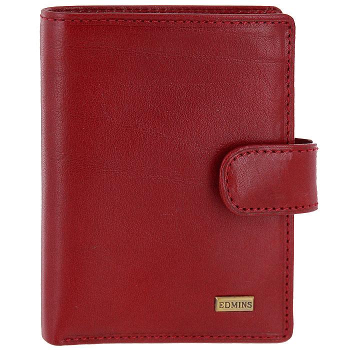 Визитница Edmins, цвет: красный. 2252 A MLSARMA норка С030-1Визитница Edmins, выполненная из натуральной кожи красного цвета, станет стильным аксессуаром, идеально подходящим вашему образу. Внутри содержит 16 кармашков из прозрачного пластика, а также четыре вертикальных кармашка для бумаг, отделение для купюр и три наборных кармашка для кредитных карт. Визитница закрывается хлястиком на кнопку. Визитница упакована в коробку из плотного картона с логотипом фирмы.Характеристики:Материал:натуральная кожа, металл, текстиль. Размер визитницы:8 см x 11 см х 1,5 см. Цвет:красный. Размер упаковки:11 см x 12 см x 3 см. Артикул:2252 A ML.