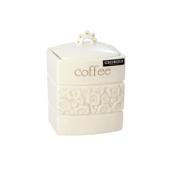 Банка для кофе Georgia Coffee 11,5 х 10,5 х 12,5 см 721856FA-5125 WhiteМалая банка Georgia, выполненная из керамики и оформленная оригинальным выпуклым рисунком и надписью Coffe, станет незаменимым помощником на кухне. В ней будет удобно хранить сахар. Емкость легко закрывается крышкой, которая снабжена резиновым кольцом-уплотнителем для лучшей фиксации. Оригинальный дизайн позволит сделать такую емкость отличным подарком на любой праздник. Характеристики:Материал: керамика, резина.Размер банки (без учета крышки): 11,5 см х 10,5 см х 12,5 см.Размер упаковки:12,5 см х 12 см х 16 см. Производитель:Великобритания. Артикул:0721856.