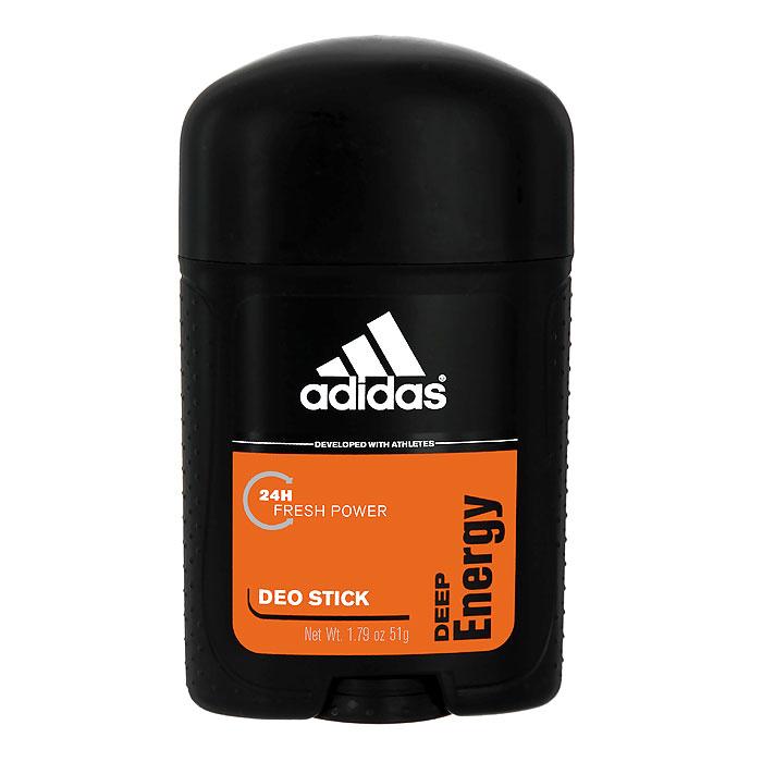 Adidas Deep Energy. Дезодорант-стик, 53 млMP59.4DДезодорант Adidas Deep Energy подарит чувство свежести на весь день, обеспечит комфорт и длительную защиту от неприятного запаха на 24 часа. Не раздражает кожу, оказывает мягкое антибактериальное действие.Характеристики:Объем: 53 мл. Производитель: Монако.Товар сертифицирован.