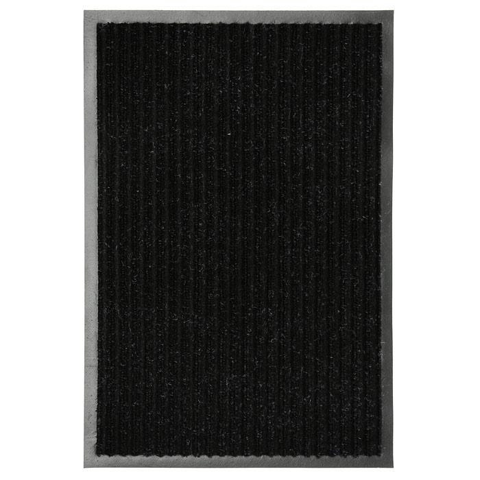 Коврик придверный Vortex, влаговпитывающий, цвет: черный, 50 см х 80 смZ-0307Придверный влаговпитывающий коврик Vortex черного цвета выполнен из ПВХ и полиэстера. Он прост в обслуживании, прочный и устойчивый к различным погодным условиям. Лицевая сторона коврика ребристая. Прорезиненная основа коврика предотвращает его скольжение по гладкой поверхности и обеспечивает надежную фиксацию. Такой коврик надежно защитит помещение от уличной пыли и грязи. Характеристики: Материал:ПВХ, полиэстер. Размер коврика:50 см х 80 см. Цвет:черный. Артикул:22086.