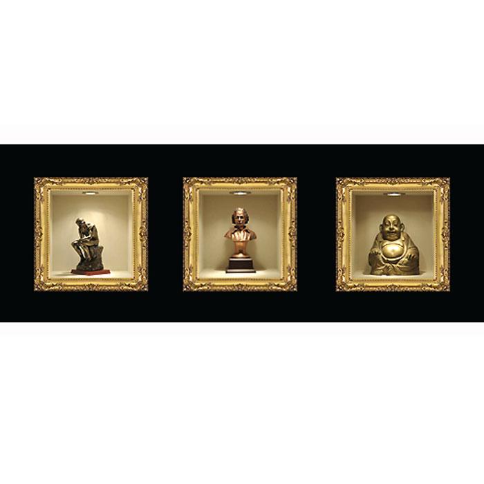 Украшение для стен и предметов интерьера с 3D эффектом Бронзовые статуэтки