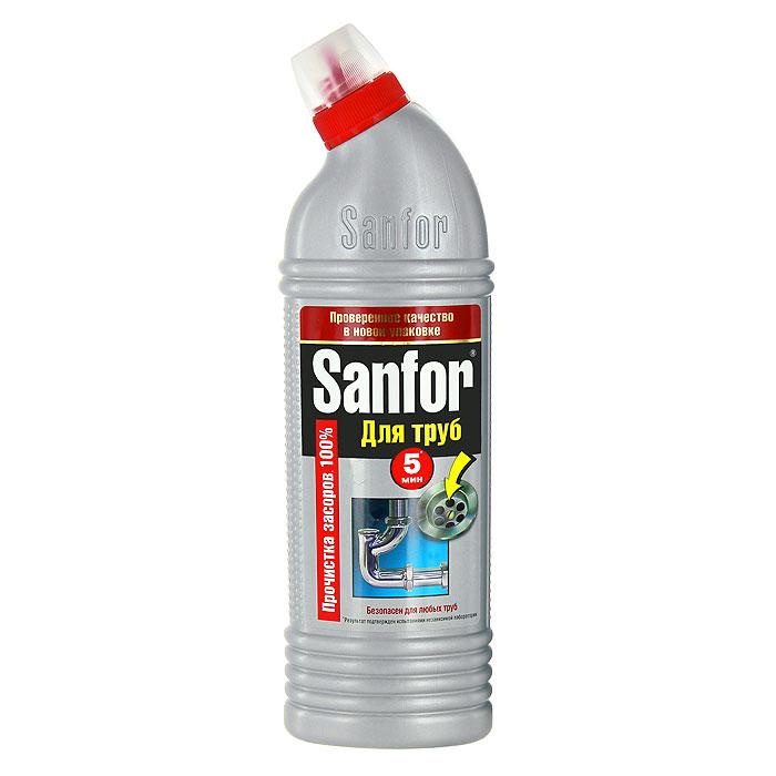 Гель для удаления засоров Sanfor, 750 г67091664Средство для очистки канализационных труб Sanfor быстро устранит даже очень сильные засоры в канализационных стоках. Результат достигается уже за 5 минут. Благодаря густой структуре проникает глубоко в трубу непосредственно к засору, даже при наличии воды. Эффективно растворяет в стоках волосы, остатки пищи, жир и другие загрязнения. Нейтрализует неприятные запахи. Средство безопасно для всех видов труб, в том числе и пластиковых. Убивает микробы за 60 минут. Характеристики:Масса: 750 г. Артикул:1559.