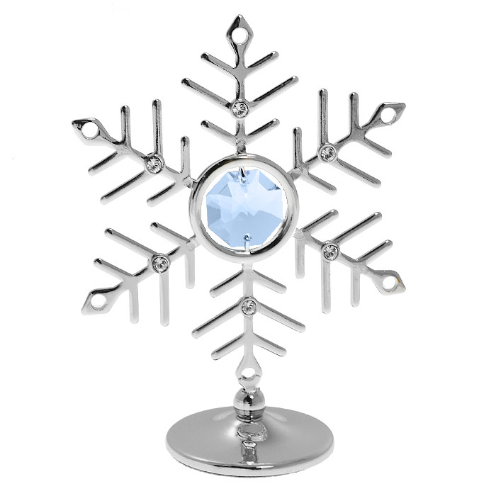 Миниатюра Снежинка, цвет: серебристый, 8 см74-0060Декоративное изделие в виде снежинки, украшенной кристаллами Swarovski, изготовлено из высококачественной стали. Оригинальная миниатюра будет отличным подарком к новогодним праздникам для ваших друзей и коллег.Более 30 лет компания Crystocraft создает качественные, красивые и изящные сувениры, декорированные различными кристаллами Swarovski.Характеристики:Материал: металл, австрийские кристаллы. Высота миниатюры: 8 см. Цвет: серебристый. Размер упаковки: 6,5 см х 9 см х 4,5 см. Артикул: U0093-001-CBL. Более чем 30 лет назад компанияCrystocraftвыросла из ведущего производителя в перспективную торговую марку, которая задает тенденцию благодаря безупречному чувству красоты и стиля. Компания создает изящные, качественные, яркие сувениры, декорированные кристалламиSwarovskiразличных размеров и оттенков, сочетающие в себе превосходное мастерство обработки металлов и самое высокое качество кристаллов. Каждое изделие оформлено в индивидуальной подарочной упаковке, что придает ему завершенный и презентабельный вид.