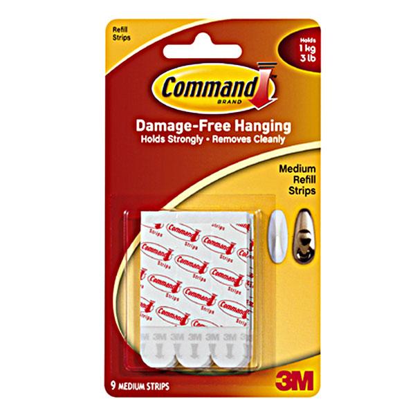 Легкоудаляемые крепежные клейкие полоски Command, средние, 9 шт клейкие заст жки 3 m command в краснодаре в икеи
