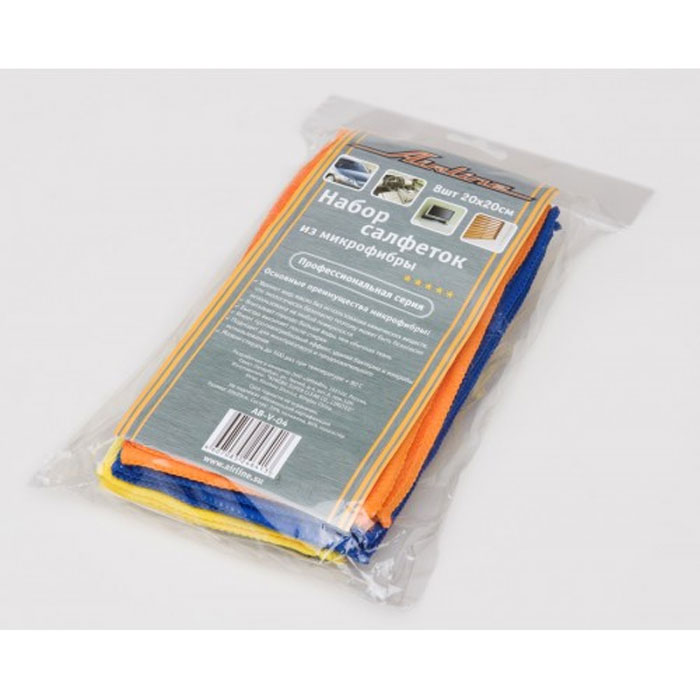 Набор салфеток Airline из микрофибры, 20 см х 20 см, 8 шт96515412В набор Airline входит 8 салфеток, выполненных из микрофибры. Салфетки великолепно удаляют пыль и грязь с любых поверхностей. Могут использоваться не только для мытья, но и для полировки различных поверхностей. Особенности салфеток из микрофибры: - очистка от жиров без химикатов; - не оставляют царапин; - высокое влагопоглощение; - быстро сохнут после стирки; - удаляют микробы и грибки; - не теряют свойств после стирки. Характеристики:Материал: микрофибра. Размер: 20 см х 20 см. Комплектация: 8 шт. Артикул:AB-V-04.УВАЖАЕМЫЕ КЛИЕНТЫ!Обращаем ваше внимание на возможные изменения в дизайне упаковки. Поставка осуществляется в зависимости от наличия на складе. Комплектация осталась без изменений.