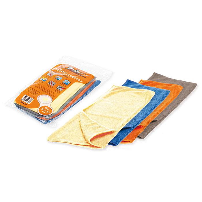 Набор салфеток для уборки Airline, 30 х 30 см, 8 шт. AB-V-05RC-100BPCСалфетки Airline из микрофибры великолепно удаляют пыль и грязь с любых поверхностей. Могут использоваться не только для мытья, но и для полировки различных поверхностей. Впитывают гораздо больше воды, чем обычная ткань.Характеристики:Материал:20% полиамид, 80% полиэстер. Размер салфетки:30 см х 30 см. Комплектация:8 шт. Артикул: AB-V-05.