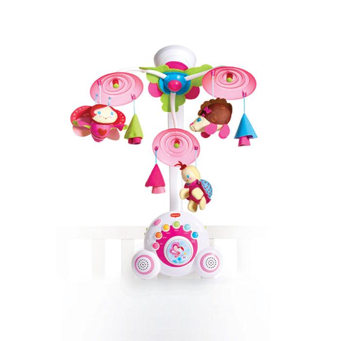 """Яркий музыкальный мобиль """"Бум-бокс"""" - это оригинальная музыкальная игрушка, создающая атмосферу уюта и спокойствия в детской комнате. Под приятные мелодии на мобиле медленно вращаются три игрушки. Основные особенности мобиля """"Бум-бокс"""": уникальный механизм движения; верхняя подсветка; 6 разновидностей музыки, 18 различных мелодий; кнопка воспроизведения мелодий в случайном порядке; два высококачественных динамика звенья и кольца; успокаивающая ночная подсветка; отдельная переносная музыкальная шкатулка; три мягкие игрушки: божья коровка, бабочка и ежик; специальная кнопочка для малыша, на которую он будет с удовольствием нажимать; автоматическое выключение; шесть уровней регулировки громкости; мобиль автоматически выключается после 40-минутной музыкальной композиции. Подвесные игрушки привлекут внимание малыша и помогут развитию зрения и цветового восприятия, а мелодичные звуки разовьют звуковое восприятие. Необходимо докупить 3 батареи напряжением..."""