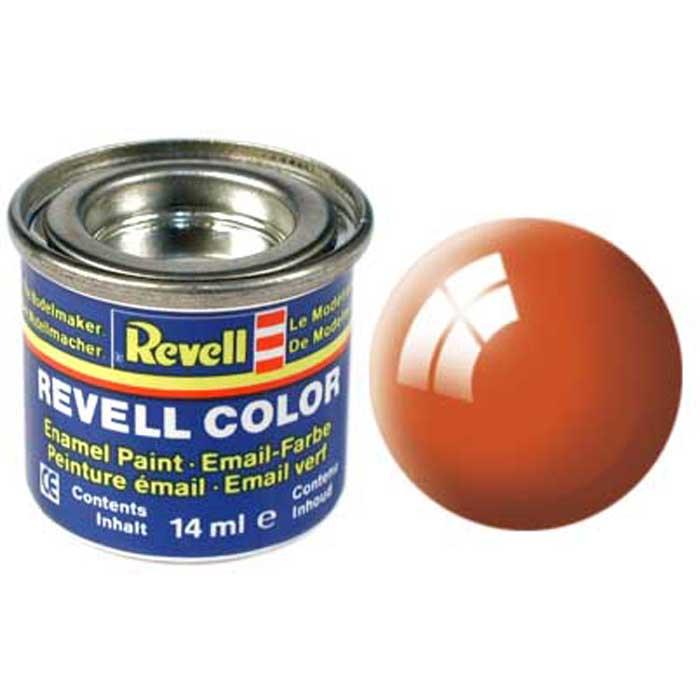 """Глянцевая краска """"Revell"""" оранжевого цвета сможет создать качественный яркий узор, красиво переливающийся при дневном освещении. Эта краска предназначена для окрашивания готовых моделей из пластика. Чтобы цвет ложился ровно, а само покрытие быстро высыхало, необходимо использовать специальные кисточки, изготовленные с учетом особенностей краски. Краска упакована в экономичную банку, что позволяет экономично ее расходовать, а после использования банку можно закрыть крышкой, чтобы избежать высыхания."""