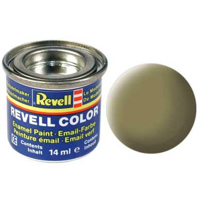 """Матовая краска """"Revell"""" желто-оливкового цвета придаст готовому изделию светлый неяркий тон. Такую краску можно использовать в качестве базовой основы для окрашивания техники, добавляя на поверхности узоры и рисунки другого, более яркого цвета. Если используется несколько цветов, которые необходимо наложить на одной поверхности, необходимо подождать примерно четыре часа, чтобы покрытие осталось ровным. Краска упакована в экономичную банку, что позволяет экономично ее расходовать, а после использования банку можно закрыть крышкой, чтобы избежать высыхания."""