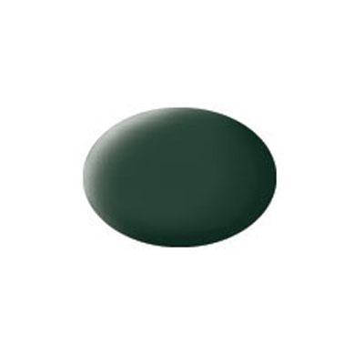 Эмалевая, матовая аква-краскатемно-зелёная цвета. Данная краска служит для окрашивания пластиковых поверхностей сборных моделей Revell. В банчоке содержится 18 мл. матовой краски темно-зелёная цвета. В случае необходимости различные оттенки эмали могут быть смешаны друг с другом, для разбавления используется Revell Color Mix.