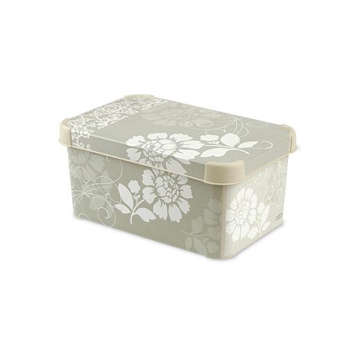 Коробка для хранения Curver Stockholm. Romance, 28 х 18 х 13 см41619Коробка Stockholm. Romance, выполненная из высококачественного пластика, предназначена для хранения различных вещей. Изделие украшено цветочным изображением. Коробка оснащена крышкой. Изящный дизайн коробки впишется в любой интерьер. Декоративная коробка поможет хранить все в одном месте, а также защитить вещи от пыли, грязи и влаги. Размер коробки: 28 х 18 х 13 см.