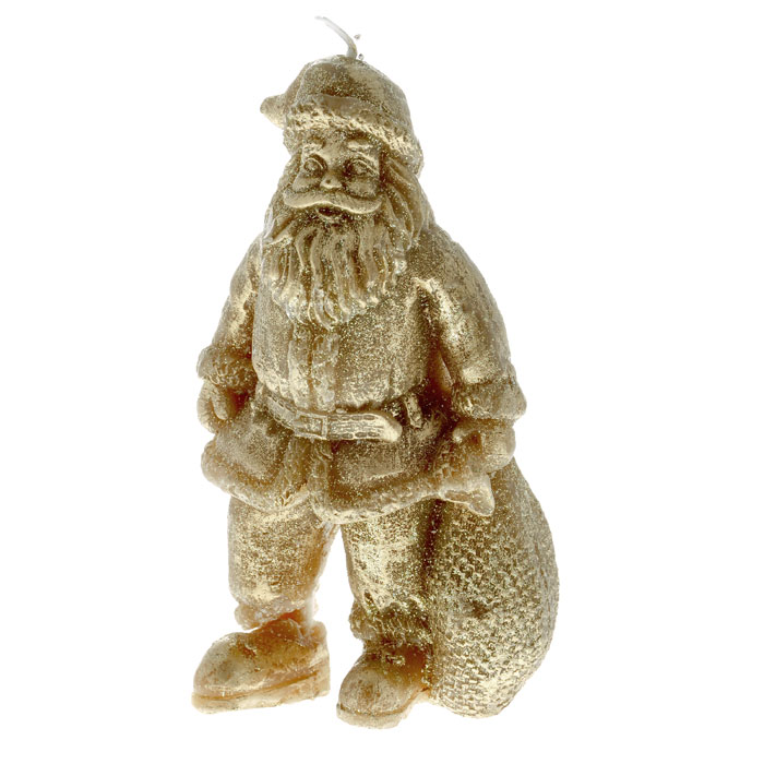 Свеча декоративная Дед Мороз, цвет: золотистый. Ф21-1220
