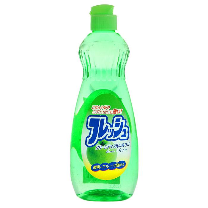 Средство для мытья посуды Fruit Acidic Fresh, с ароматом зеленого яблока, 600 млH00001344Средство для мытья посуды Fruit Acidic Freshсодержит апельсиновое масло, очень мягко воздействует на кожу рук, не раздражая ее. Превосходно удаляет жирные загрязнения. Справляется с жиром даже в холодной воде. Подходит для мытья овощей и фруктов. Характеристики: Объем: 600 мл. Производитель: Япония. Товар сертифицирован.