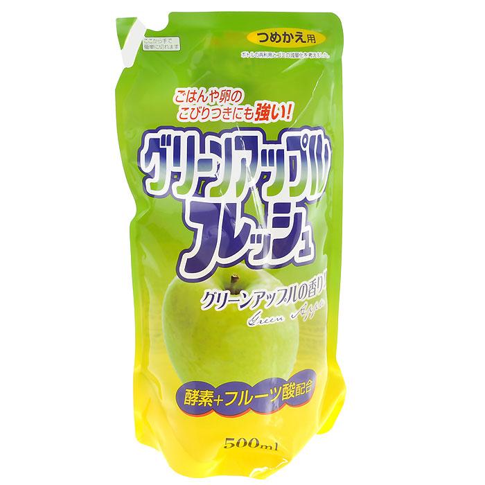 Средство для мытья посуды Fruit Acidic Fresh, с ароматом зеленого яблока, 500 мл средство для мытья посуды orange oil fresh с апельсиновым маслом 500 мл