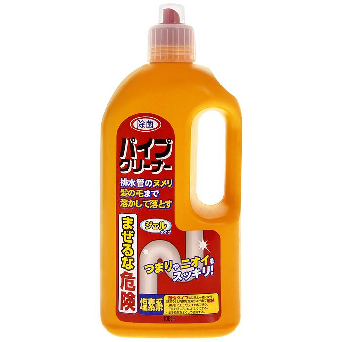 Средство Marufuku для чистки труб, 1000 млUP210DFХлорорганическое средство для чистки кухонных труб, труб ванной и раковин устраняет любые засоры: налет, слизь, скопление волос, шерсти. Благодаря отбеливающему и дезодорирующему действию удаляет темные пятна, устраняет неприятный запах, сохраняя чистоту труб. Вязкое вещество в составе растворяет глубокие загрязнения, не разрушая материала труб. Достаточно использовать средство один раз в месяц, чтобы сохранять трубы в чистоте. Характеристики: Объем: 1 л. Товар сертифицирован.