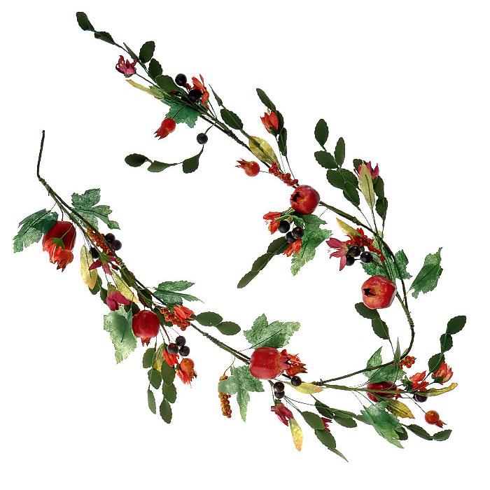 Гирлянда декоративная Гранаты с листьями, цвет: зеленый, красный, длина 130 см25351Декоративная гирлянда Гранаты с листьями дополнит интерьер любого помещения в преддверии Нового года, а также может стать оригинальным подарком для ваших друзей и близких. Композиция выполнена в виде гирлянды из нескольких гранатов с листьями и цветами. Оформление помещения декоративной гирляндой создаст праздничную, по-настоящему радостную и теплую атмосферу. Характеристики:Материал: ПВХ, металл. Длина: 130 см. Изготовитель: Китай. Артикул: 5250042.