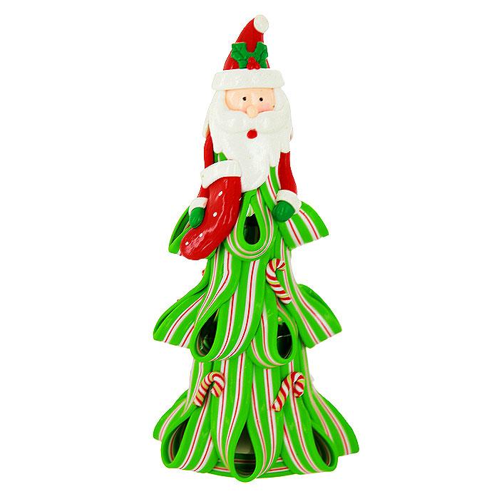 Декоративная композиция Дед Мороз, с подсветкой. 219945C0038550Декоративная композиция, выполненная из полистоуна в виде Деда Мороза с чулком для подарков, оснащена светодиодной подсветкой, которая мигает разноцветными огоньками. Вы можете поставить фигурку в любом месте, где она будет удачно смотреться, и радовать глаз. Кроме того, новогоднее украшение- отличный вариант подарка для ваших близких и друзей. Характеристики:Материал:полистоун. Размер фигурки: 8,5 см х 17,5 см х 8,5 см. Размер упаковки: 9 см х 19 см х 9 см. Артикул:219945. Работает от 3 батареек типа AG13 (входят в комплект).