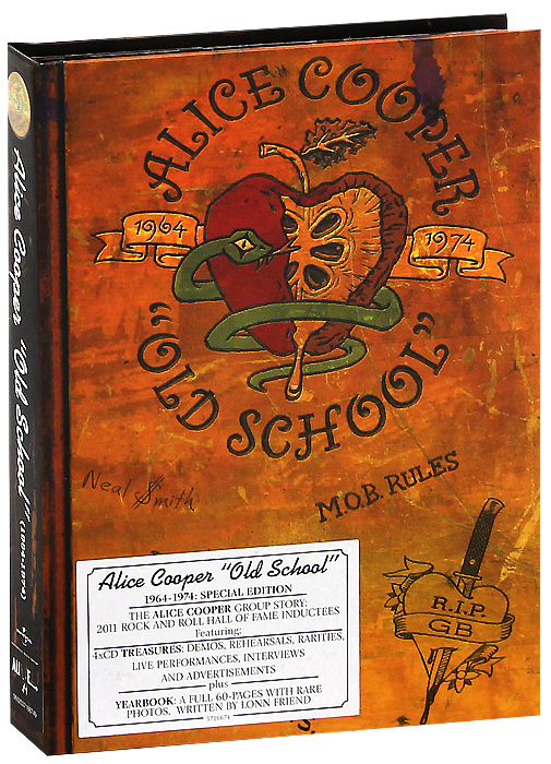 Alice Cooper's Old School 1964-1974 Special Edition, the incredible true story of the Alice Cooper group. A career-spanning set taking you inside one of rock's great bands in a unique full-length school yearbook and an array of amazing audio rarities direct from the depths of the band's own vaults.